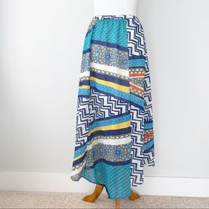 Romeo and Juliet Flowy Geometric Long Skirt